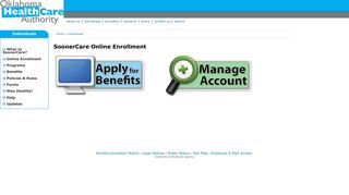 OHCA - SoonerCare Online Enrollment Landing Page
