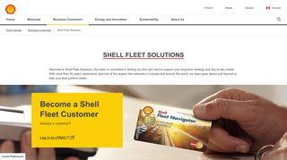 Shell Fleet Solutions   Shell Canada