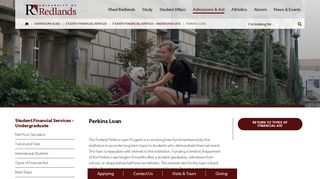 Perkins Loan - University of Redlands