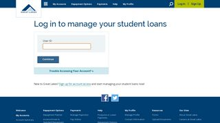 Log in to manage your student loans - Great Lakes