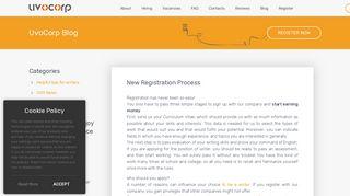 New Registration Process. UvoCorp Sign Up - UvoCorp.com