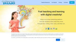 Wixie   Online authoring platform for students