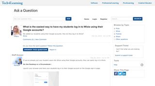 What is the easiest way to have my students log in to Wixie using their ...