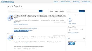 I want my students to login using their Google accounts. How can I do ...