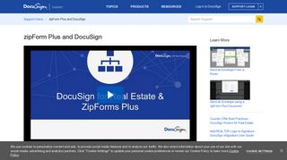 zipForm Plus and DocuSign | DocuSign Support Center