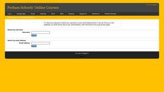 Forgotten password - Perham Schools' Online Courses