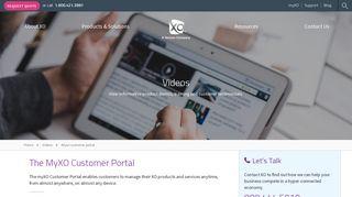 The MyXO Customer Portal | XO Communications