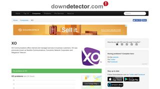 XO Communications outags and problems | Downdetector