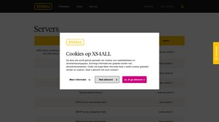 XS4ALL | Servers