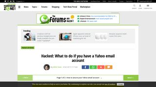 Hacked: What to do if you have a Yahoo email account - Hardwarezone