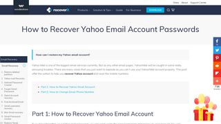 How to Recover Yahoo Email Account - Recoverit - Wondershare