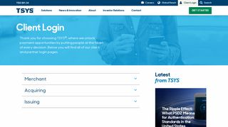 Login: TSYS Client Login & Partner Portal