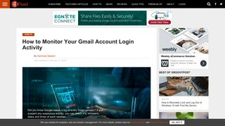 How to Check Gmail Account Login Activity And Prevent Suspicious ...