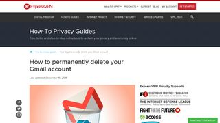 How to Permanently Delete Your Google Gmail Account | ExpressVPN