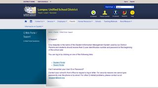 Q Web Portal / Support - Lompoc Unified School District