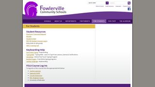For Students - Fowlerville Community Schools