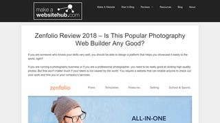Zenfolio Review 2018 - Is This Popular Photography Web Builder Any ...