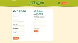Login / Register - Chester Zoo