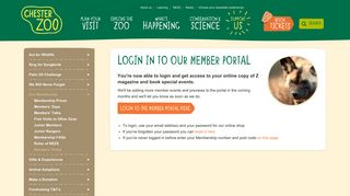 Login in to our Member Portal   Support Us   Chester Zoo