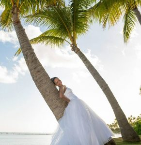 Bridal Wear for Hawaii Beach Wedding
