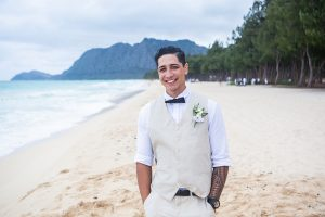 Groom Beach Wedding