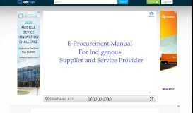 1 E-Procurement Manual For Indigenous Supplier and Service ...