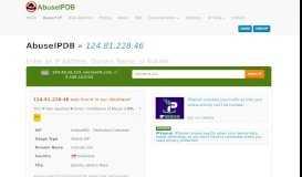 124.81.228.46 | IndosatM2 - Dedicated Customer | AbuseIPDB