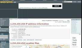 1.254.254.254 IP Address Location | SG IP network tools