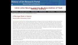 A Marriage Made in Heaven - History of Art Portal - University of York
