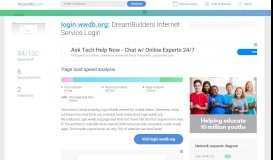 Access login.wwdb.org. DreamBuilders Internet Service Login