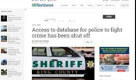 Access to database for police to fight crime has been shut off