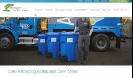 Apex Recycling & Disposal: Sam Miller - Oregon Pacific Bank