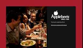 Applebee's Wifi Signup Form