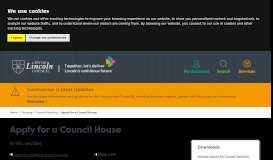 Apply for a council house – City of Lincoln Council