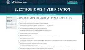 Benefits of Using the State's EVV System for Providers ...