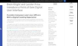 Black Knight and Lender Price Introduce a Point-of-Sale ...