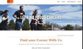 Careers Center | Welcome - Leprino Foods