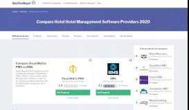Compare Visual Matrix PMS to Hotel Technology Vendors ...