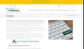 Compliance | PrecisionCare Software - Solutions for the ...