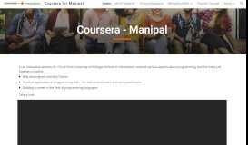 Coursera for Manipal - Google Sites