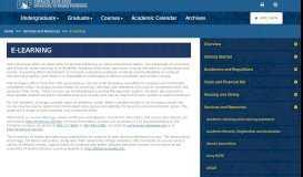 E-learning - UAF Catalog - University of Alaska Fairbanks