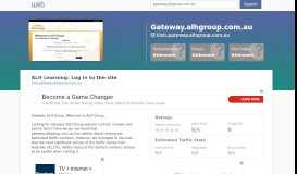 Everything on gateway.alhgroup.com.au. ALH Learning: Log ...