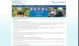 FAQ - SCPMG Meeting Events