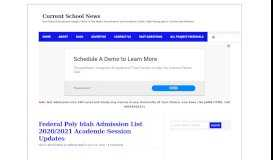 Federal Polytechnic Idah ND Admission List 2018/2019 is Out ...