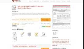 Fillable Online E-AmBiz Balance Inquiry Application Form Fax ...