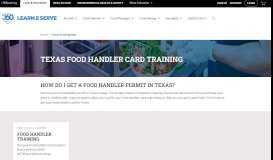 Food Handlers Permit in Texas - Learn2Serve