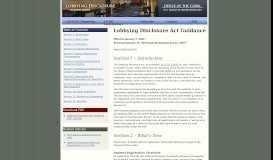 Guide to the Lobbying Disclosure Act - Lobbying Disclosures
