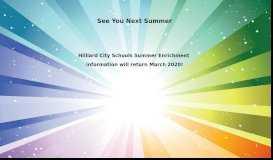 HCSD Summer Enrichment Program – Courses - Hilliard City Schools