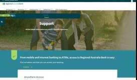 Help and Support Centre for all Regional Australia Bank ...
