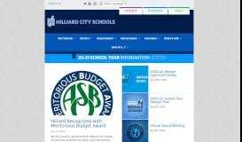 Hilliard City Schools | Ready for Tomorrow